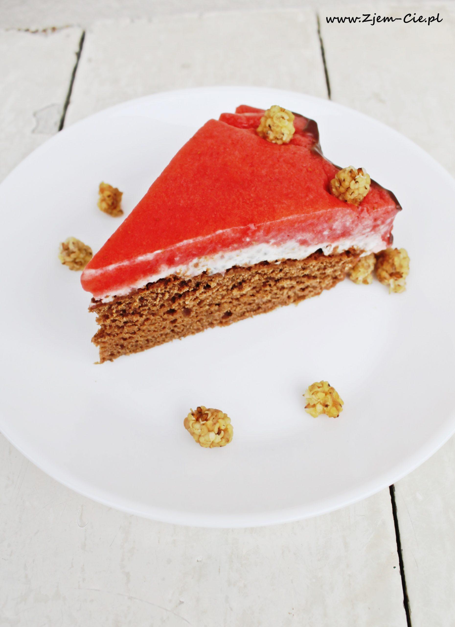 Tort z aquafaby - wegański