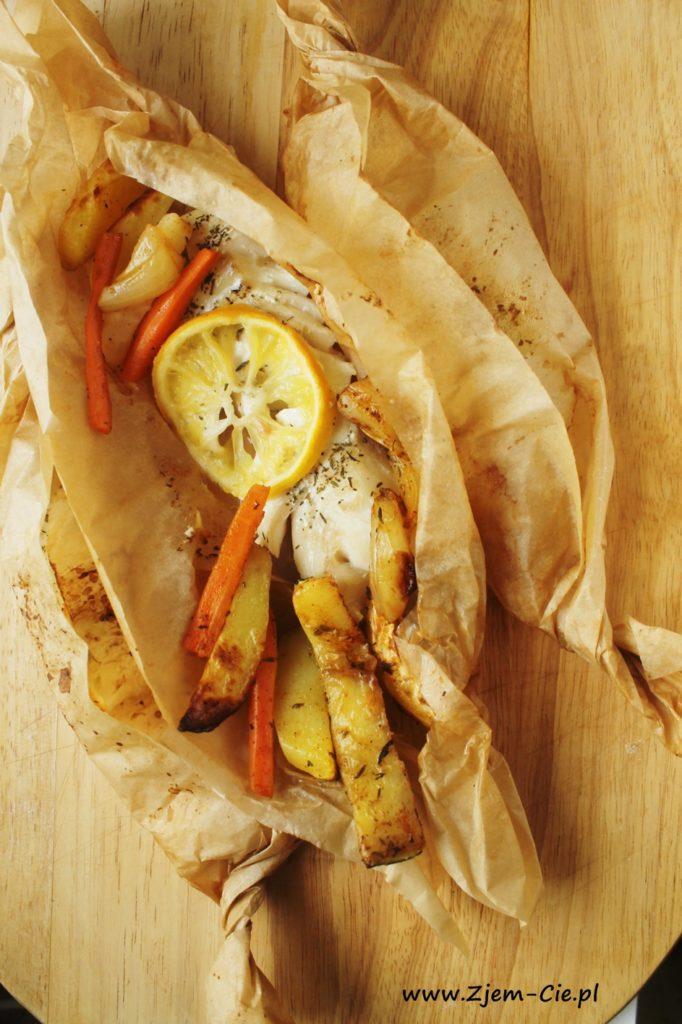 Ryba oieczona w papierze