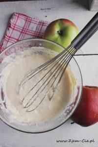 Ciasto na racuszki z jabłkami na sodzie oczyszczonej