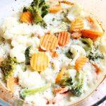 Pieczonme warzywa z beszamelem